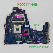 K000111440 PWWAA LA 6842P HM55 DDR3 for Toshiba C660 Notebook Laptop Motherboard Mainboard Tested