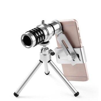 Venta al por mayor telescopio teléfono inteligente Zoom telescopio 10X18 telescopio portátil la luz baja teléfono telescopio monocular