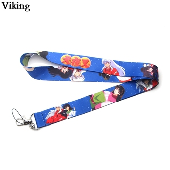 20pcs/set Inuyasha Anime Lanyard For keys Cool Phone Holder Neck Straps With Keyring ID Card Strap Hang Rope G0312 - sale item Arts,Crafts & Sewing