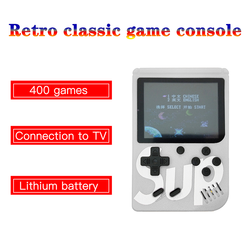 At low price 3.0 inch Handheld Game Console 400 Games Retro  Game Player Support Connect TV Lightweight Plastic Headheld Game