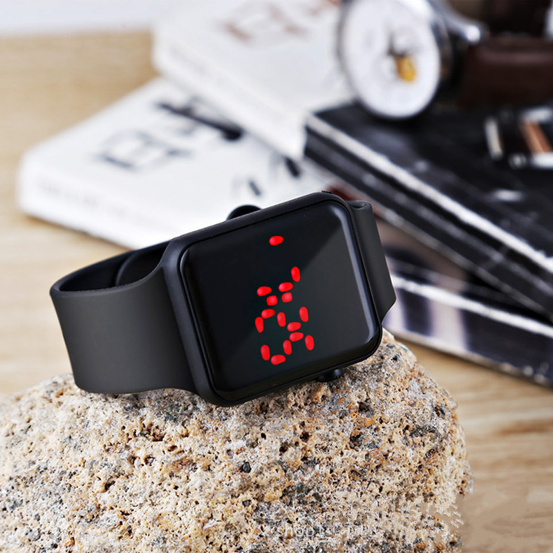 2PCS Sport LED Digital Watch Men Women LED Watch Silicone Electronic Watch Couple Watches Clock relogio digital montre homme 4