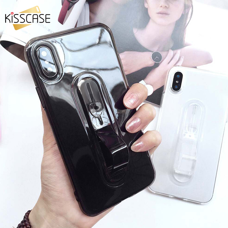 KISSCASE Luxury Ring Holder Phone Case For Samsung Galaxy S9 S8 Plus A6 J4 J6 J8 A7 A8 A9 2018 Case Invisible Ring Stand Capa image