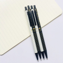1pcs Black White Crown Mechanical Pencil Student Pencil Automatic Pen For Kid School Office Supply germany staedtler 925 mechanical pencil animation graphics mechanical pencil 0 3 0 5 0 7 0 9 mm 1pcs