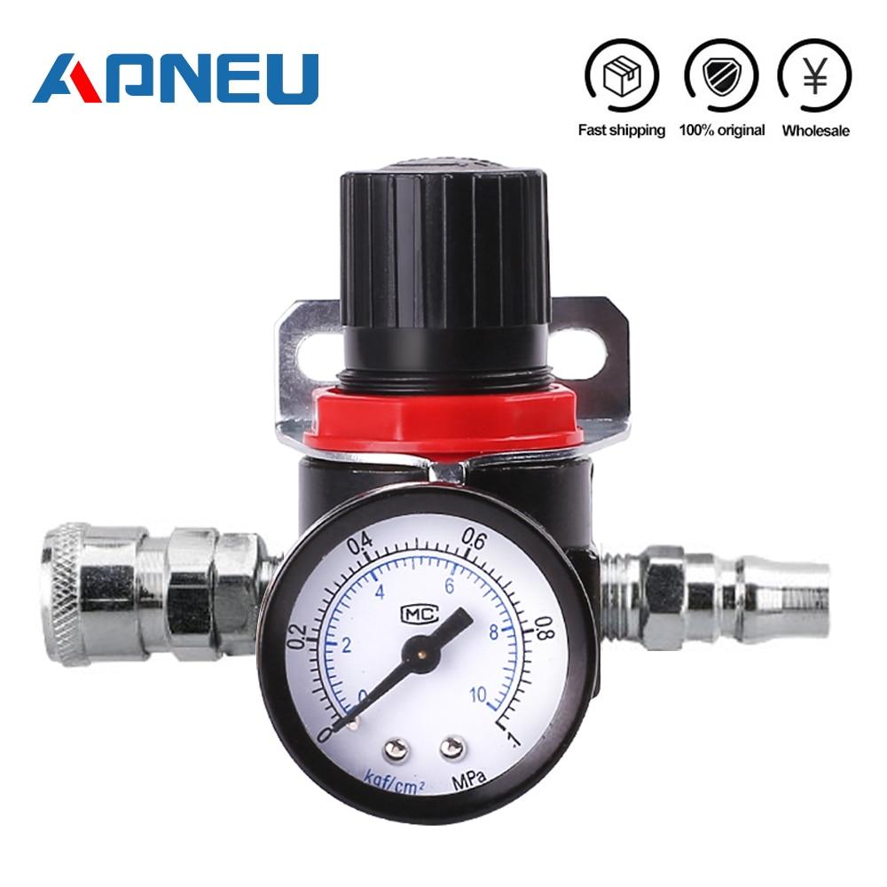 Ar2000 02 g1/4 regulator regulator regulador de pressão mini ar Ar2000-02 alívio controle compressor regulador tratamento unidades válvula calibre montagem