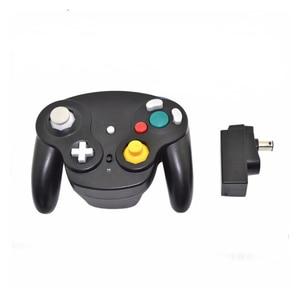 Image 5 - 2.4GHz bezprzewodowy Gamepad Bluetooth dla Gamecube dla kontrolera NGC Joypad Joystick dla Nintendo na komputer MAC