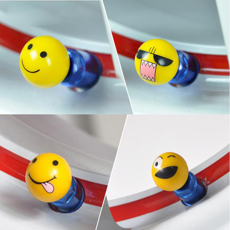 4pcs Car Tyre Wheel Stem Air Valve Cap Car Tire Valve Cap Auto Truck Bike MTB Dust Dustproof Cap Funny Face Expression Valve Cap