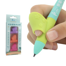 Ajuda as crianças a aprender segurando caneta e escrita postura cor aleatória 3 lápis lidar com correção da mão direita mágica se encaixa lápis macio
