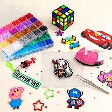 Маринованные бобы ручной работы Diy Набор 24 цвета 9200 шт Хама бусины 5 мм пиксель стерео Рисование девушка головоломка игрушка имеют хорошее качество