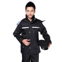 Водонепроницаемый дождевик для мужчин, мотоциклетный пластиковый отражающий дождевик, походный плащ, дождевик JJ60RC