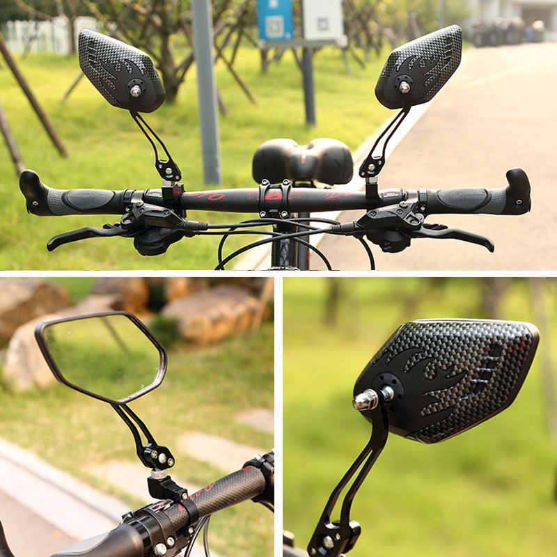 1Pair UK Bike Mirror Mountain Bicycle Rearview Handlebar End Rear Back View MTB