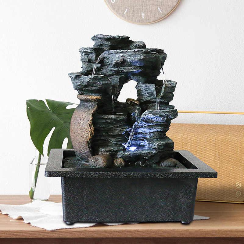 2020 new desktop 築山置物風水風水噴水樹脂装飾噴水屋内噴水工芸家の装飾