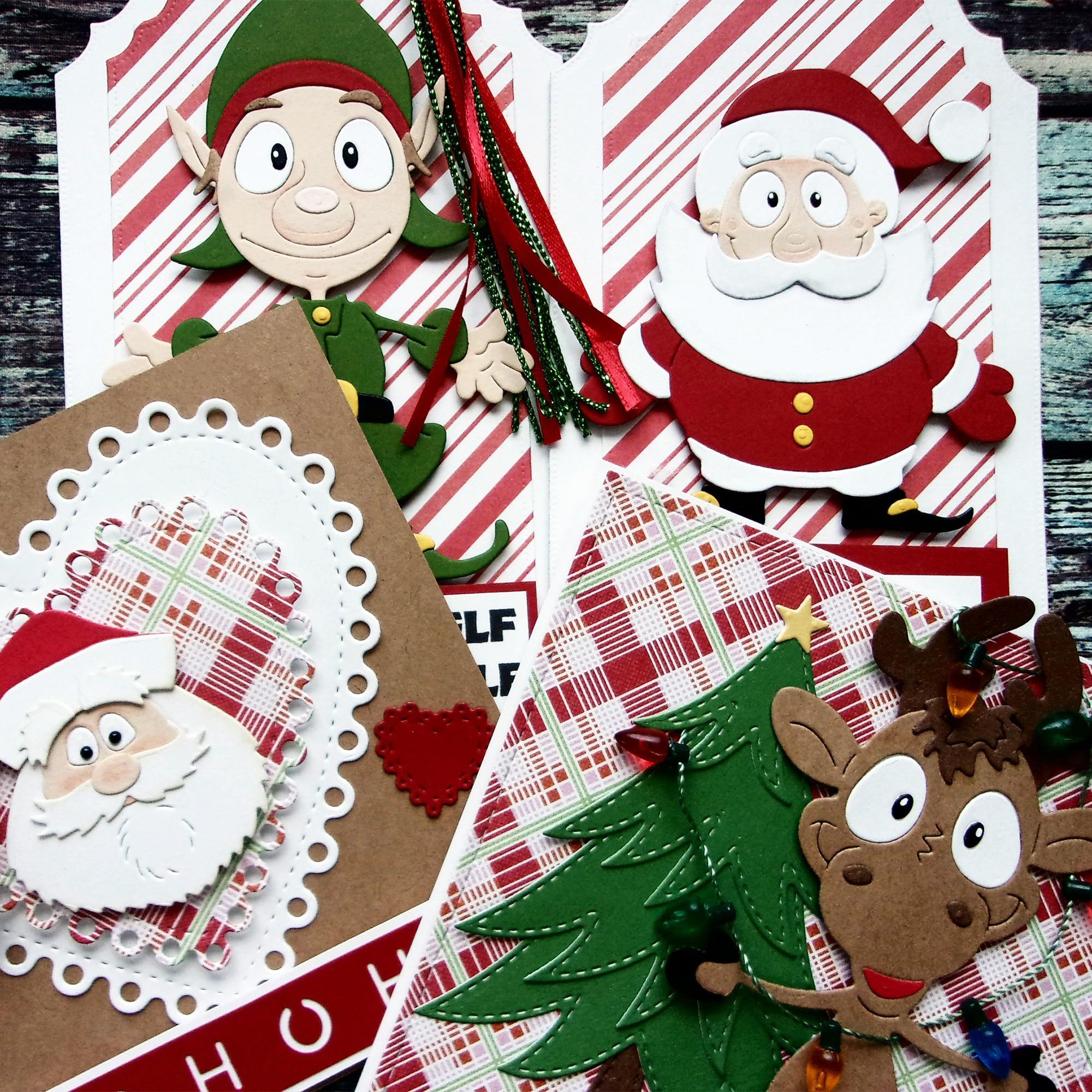 Xmas Snowflake Metal Cutting Dies Christmas Scrapbooking Paper Cards Decor*TS