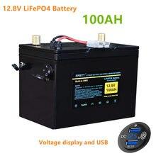 12.8v 100AH LiFePO4 akumulator 12v lifepo4 bateria litowa 100ah LiFePO4 bateria żelazo fosforan bateria z ładowarką 10A