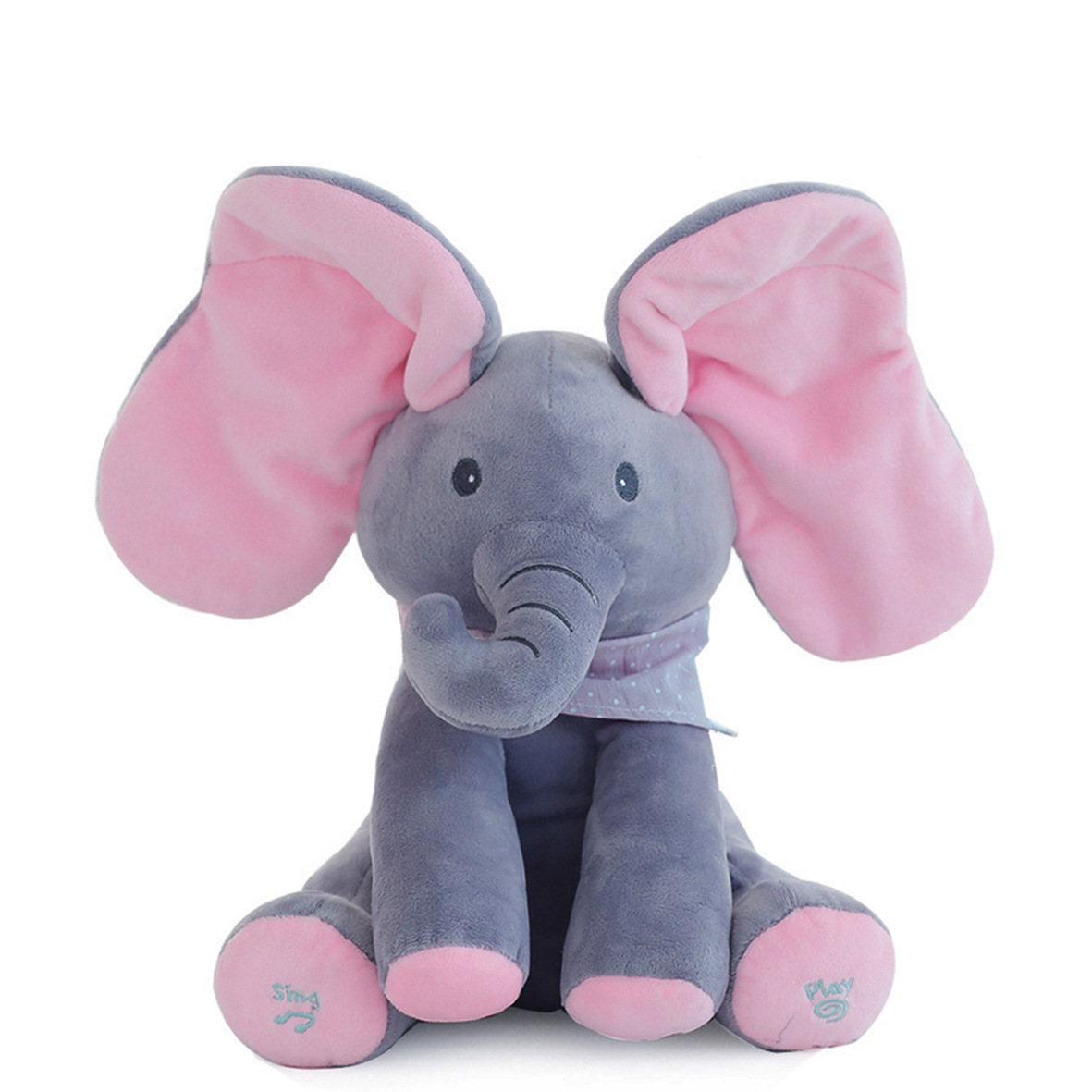 Baby Elephant Doll Peekaboo Plush Toys Cute Dog Electric Music Dang Yan Doll Birthday Gift