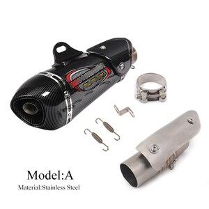 Выхлопная система мотоцикла труба для Suzuki GSXR 1000 2012-2020 Слип средней трубы подключения глушитель наконечники с DB убийца изменить