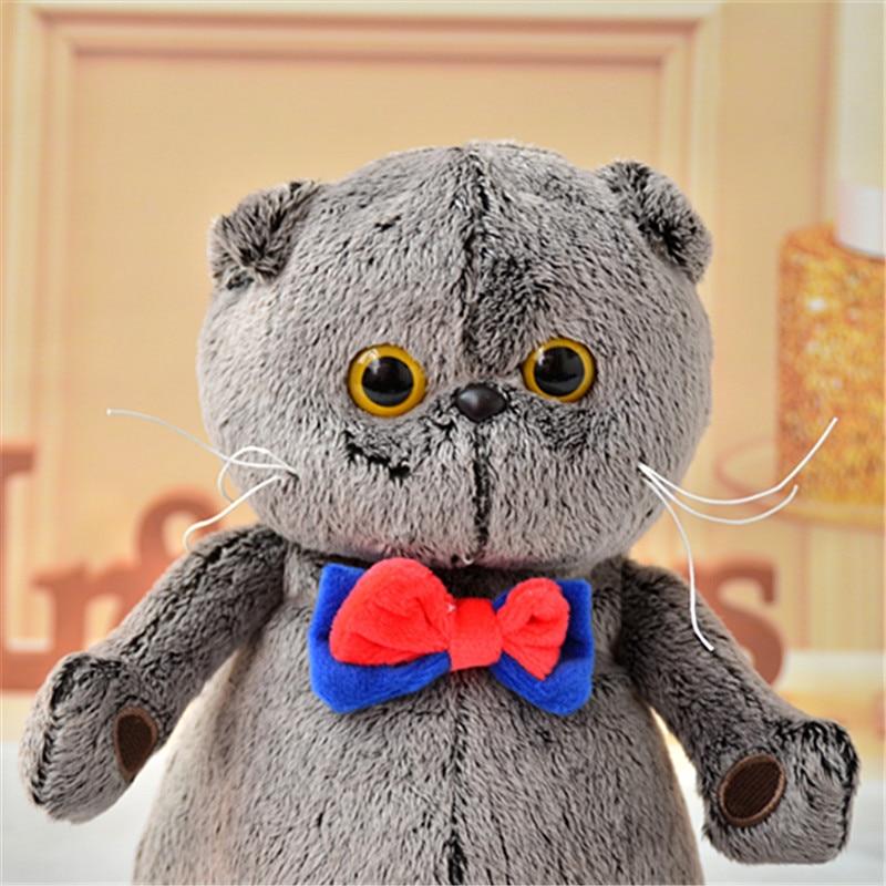 Cute Soft Toy Cat Basik Stuffed Plush Doll Toys For Kids Children Boys Girls Friend Anti Stress Home Gift Bed Cushion Pillow