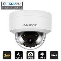 Kompatybilny z Hikvision 3MP PoE IP kamera kopułkowa bezpieczeństwo zewnętrzna kamera noktowizyjna odporna na warunki atmosferyczne ONVIF 2.8mm wymień na DS-2CD1121-I