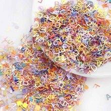 About 15g Mix Color Alphabet Nail Glitter Size Ultrathin Laser Sequins Nails Art Decoration For DIY