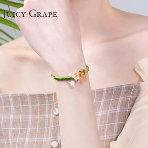Image 4 - Juicy Grape Enamel Glaze chic bracelet female personality cold wind style bracelet adjustable girls gifts