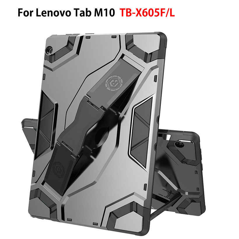 Case For Lenovo Tab M10 10.1 Cover Funda TB-X605L TB-X605F Hybrid Rugged DurableTablet Hand strap Stand Shell Capa Coque