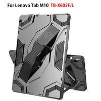レノボタブ M10 10.1 カバー Funda TB-X605L TB-X605F ハイブリッド頑丈な DurableTablet はンシルバーフレームプラスチック Coque