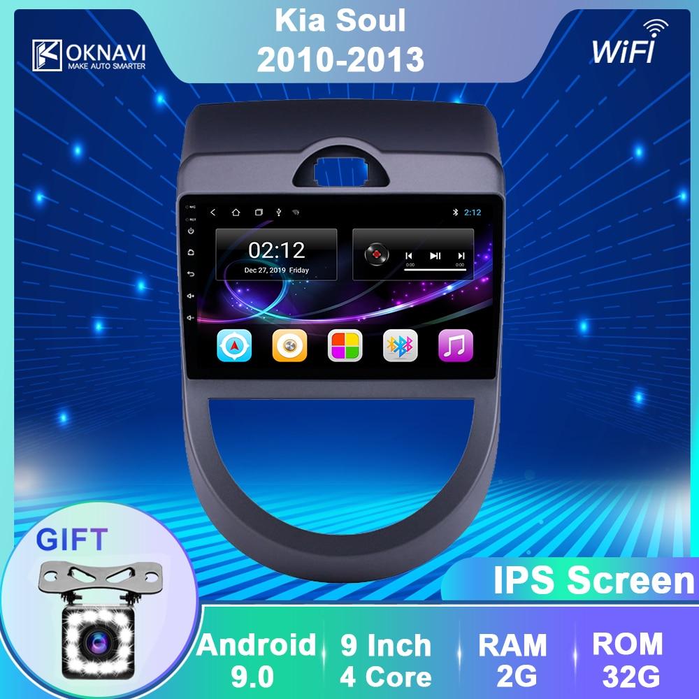 OKNAVI Car Multimedia Video Player Android 9.0 For KIA SOUL 2010 2011 2013 Radio GPS Navigation Stereo Bluetooth Wifi No Dvd 4G