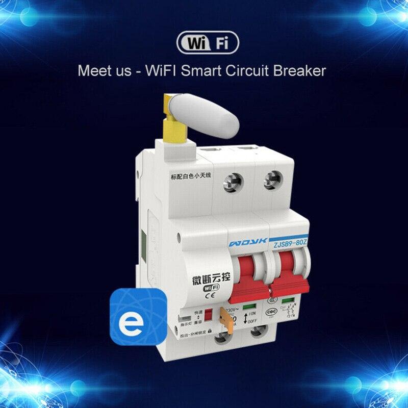 Disjoncteur intelligent WiFi App télécommande interrupteur automatique Protection contre les surcharges câlin-offres