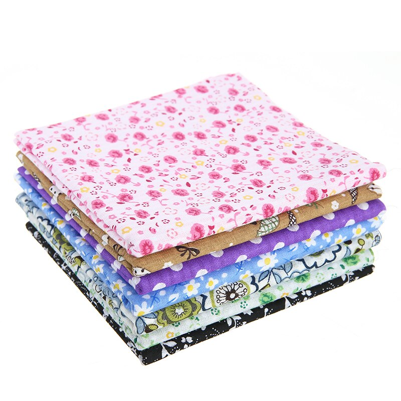 100/% Cotton - 25cm x 24cm 77pcs Quilting Cotton Craft Fabric Bundle Squares Sheets Printed Floral Sewing Supplies for Patchwork Sewing DIY Crafting Quilting