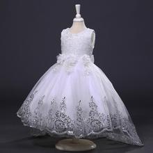 Nowa dziewczynka sukienka dziewczęca sukienka w kwiaty sukienka w kwiaty dziewczyna ogon ślub księżniczki sukienka dziewczyna sukienka księżniczka sukienka koronkowa pettiskirt tanie tanio NoEnName_Null Floral Bez rękawów REGULAR Śliczne Łuk Pasuje prawda na wymiar weź swój normalny rozmiar elegant Dla dzieci
