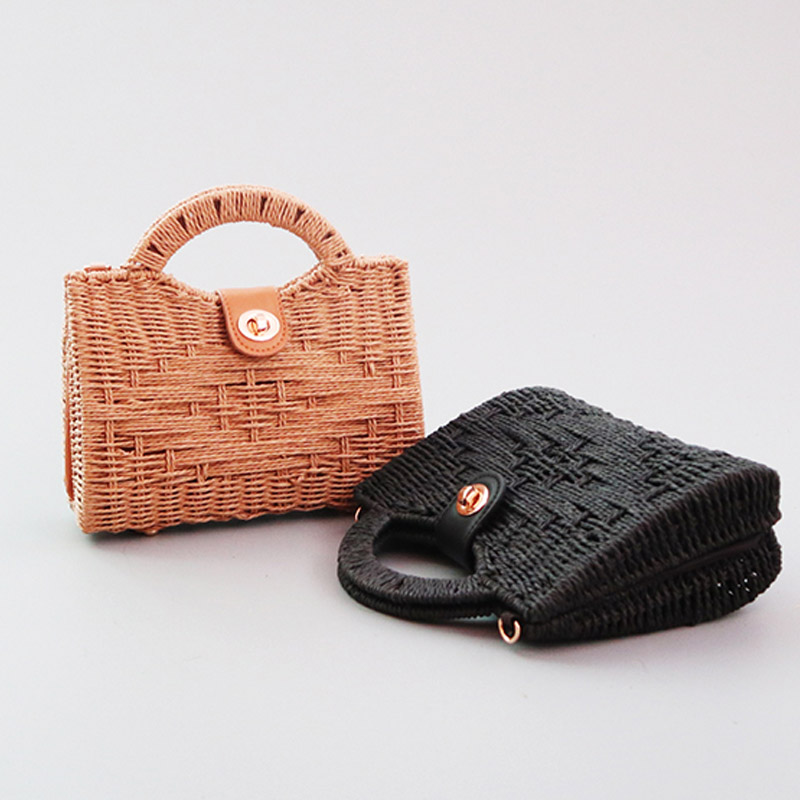 Summer Ladies Ins Portable Messenger Straw Bag Fashion Seaside Travel Vacation Wild Handmade Diy Woven Bag