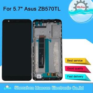 Image 1 - Оригинальный ЖК экран 5,7 дюйма M & Sen для Asus Zenfone Max Plus M1 ZB570TL X018DC + дигитайзер сенсорной панели с рамкой ZB570TL