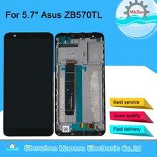 オリジナル 5.7 「 m & セン asus zenfone 5 最大プラス M1 ZB570TL X018DC lcd スクリーンディスプレイ + タッチパネルデジタイザとフレーム ZB570TL 液晶