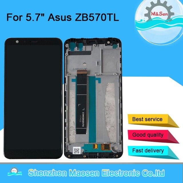 """Ban Đầu Năm 5.7 """"M & Sen Dành Cho Asus Zenfone Max Plus M1 ZB570TL X018DC Màn Hình LCD + Bảng Điều Khiển Cảm Ứng bộ Số Hóa Có Khung ZB570TL Màn Hình LCD"""
