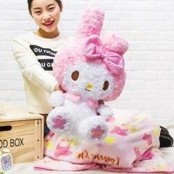 Cartoon Sanrio My Melody Hello Kitty Deken Quilt Airconditioning Pluche Deken Pop Kussen Student Kantoor Dutje Cover Deken