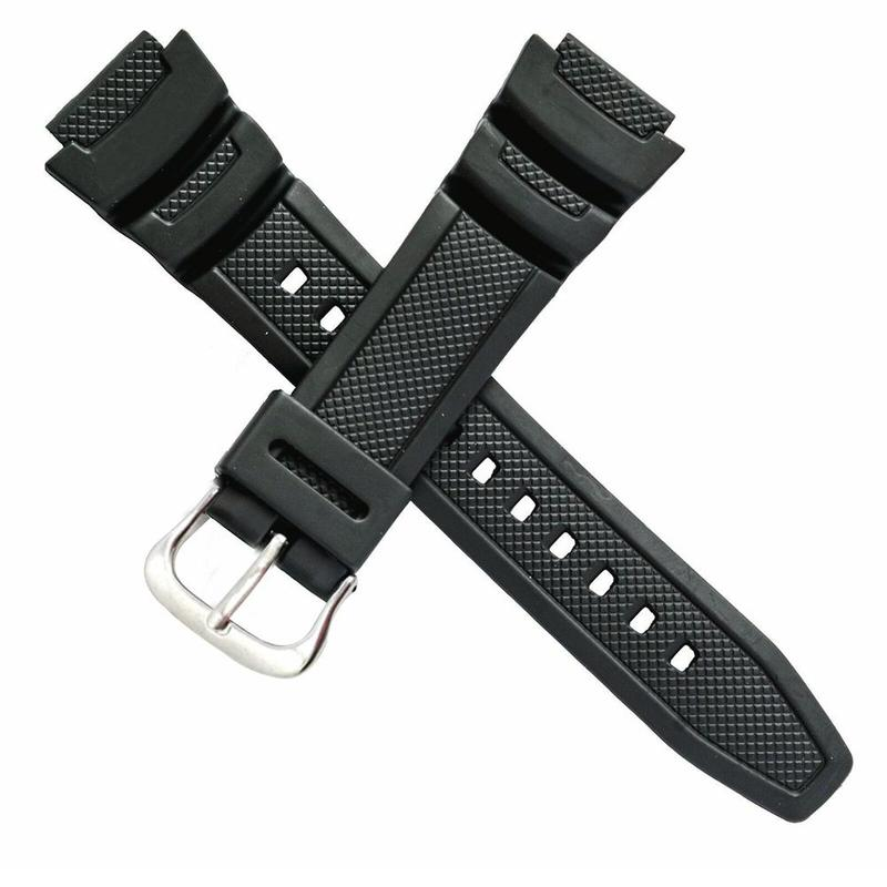 For Genuine Casio Watch Band For Twin Sensor Sgw100 Sgw-100-1v Black Rubber Strap