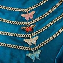 Женское ожерелье с кулоном в виде большой бабочки just feel