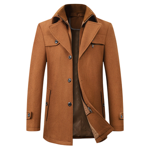 Image 1 - High Quality Wool Coat Men Overcoats Topcoat Mens Single Breasted Coats Jackets New Arrival Winter Wool Casual Manteau Homme