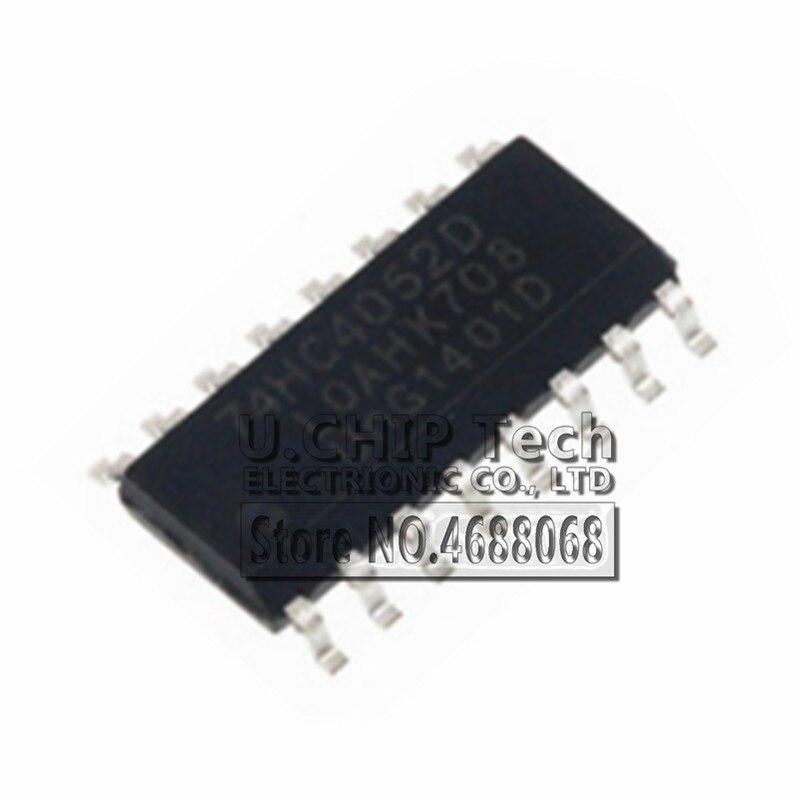 50 x 74HC4052D SOP-16 Dual 4-channel analog multiplexer//demultiplexer