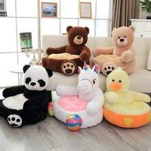 Bonito dos desenhos animados urso de pelúcia panda unicórnio pato crianças sofá cadeira brinquedos de pelúcia assento do bebê ninho cama de dormir adulto travesseiro almofada