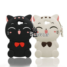 3D Cute Lucky Cat Soft Silicone Phone Case Cover Skin For Samsung Galaxy S3 S4 S5 S6 S7 edge J1 J2 J3 J5 J7 A5 A7 2017 Prime стоимость