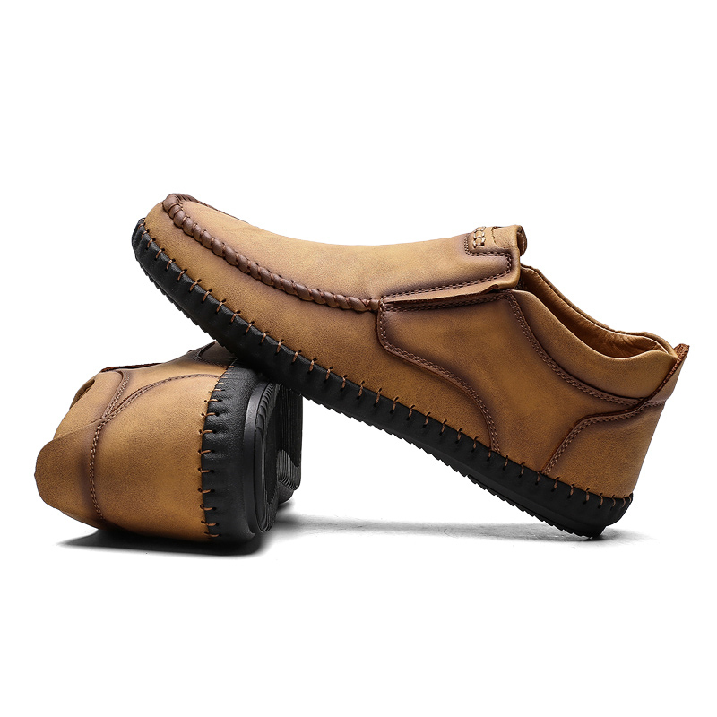 casual leather winter shoes