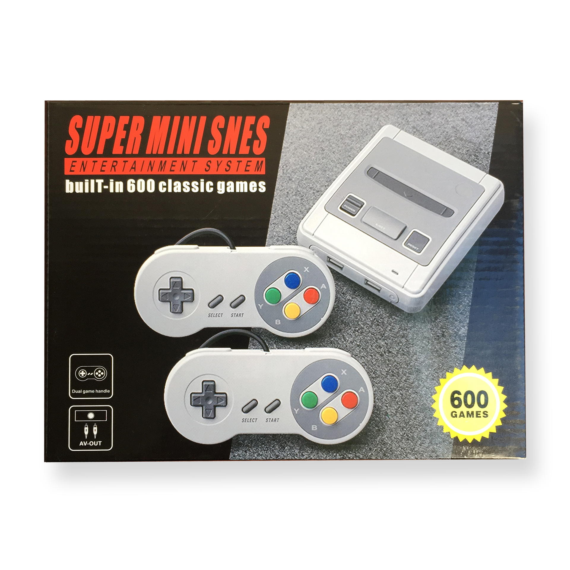 SFC Super Classic Retro Super minisnes Mini Built-in 600-Mini Nostalgic Video Game Console