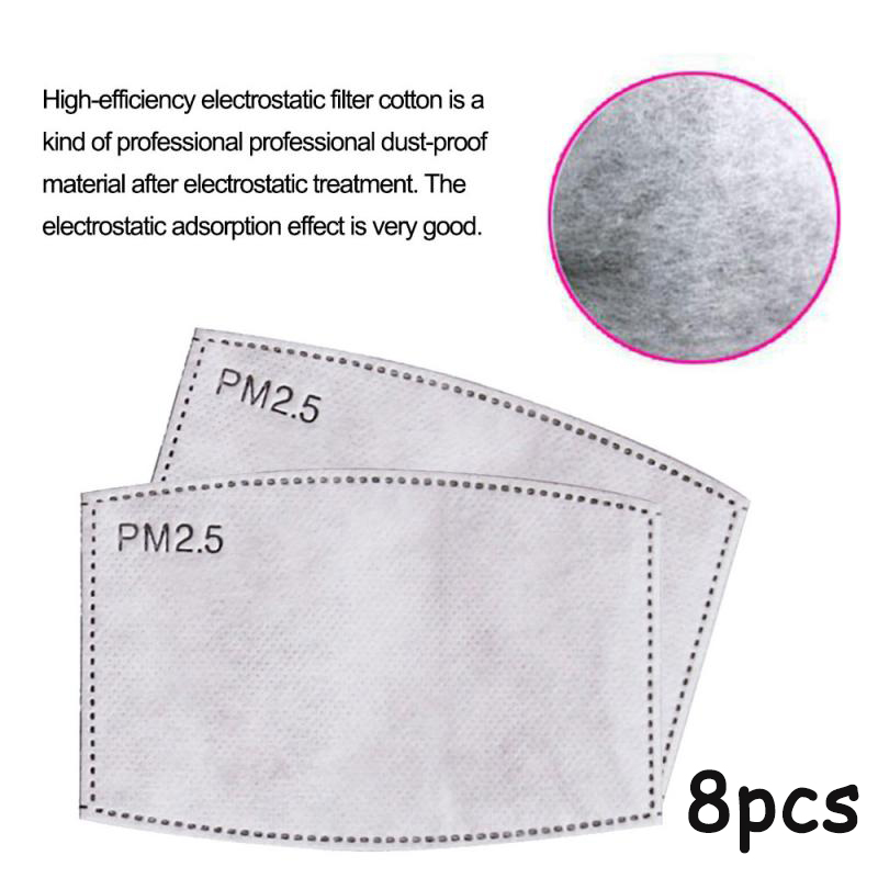 8pcs PM2-5-Filter-paper-Anti-Haze-mouth-Mask-anti-dust-mask-Filter-paper-Health Kitchen Tissue Holder Hanging Bathroom Paper