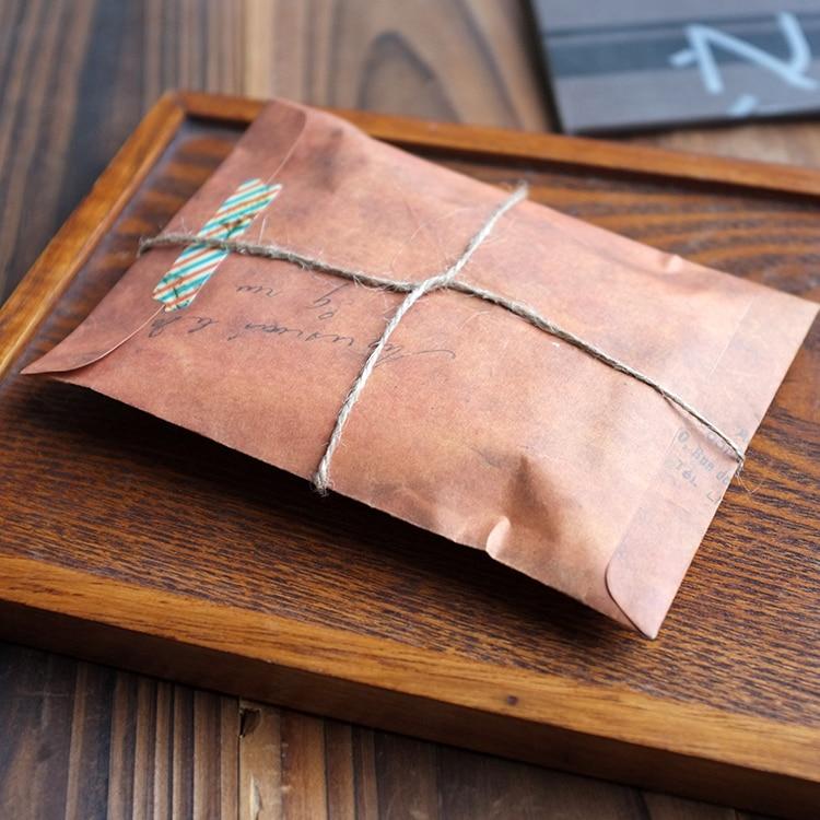 JIANWU 10pcs/set Back To Do The Old Color Brown Paper Envelope Paper Bag