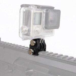 Image 1 - Actie Camera Nylon Rail Mount Vaste Adapter Voor Picatinny Airsoft Rifle Laser Mount Adapter Voor Gopro Eken