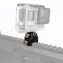 Action Camera Nylon Rail Mount Fixed Adapter for Picatinny Airsoft Rifle Laser Mount Adapter for GoPro EKEN