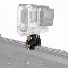 פעולה מצלמה ניילון רכבת הר קבוע מתאם עבור Picatinny Airsoft רובה לייזר הר מתאם עבור GoPro EKEN