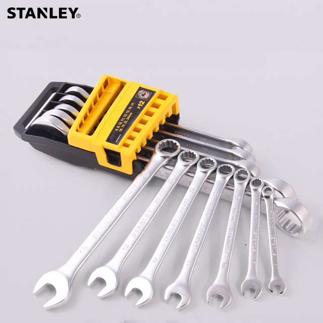 Stanley basic metric wrench spanner tool set car wrench tools kit combination auto tool for garage/home automotive repair 4