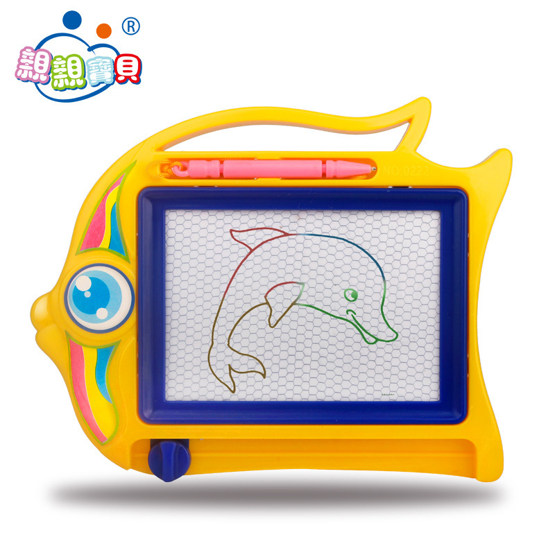 Hot Sales New Style Writing Board Cartoon Elephant Fish Color Magnetic Drawing Board Cartoon Pattern Children'S Educational Toy
