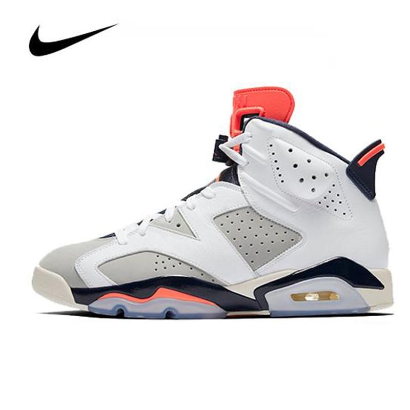 Nike Air Jordan 6 Retro Tinker 384664-104 Men's Basketball Shoes Sneakers Original High Top Basketball Unisex Women Shoes
